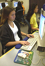 girls at computer