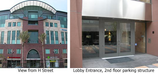Photo of the front and back entrances of the South Bay branch office